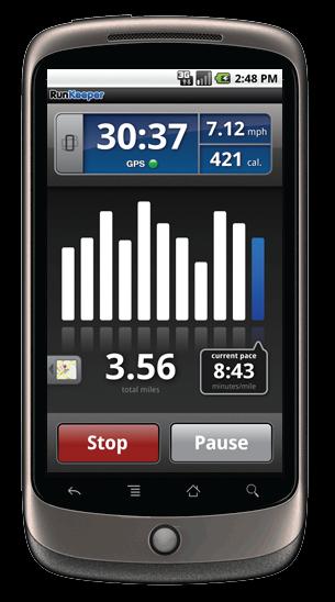 RunKeeper sur Nexus One