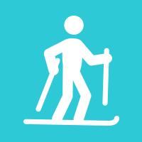 4.30mi. ski run in 1:00:16